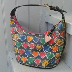 Dooney & Bourke rainbow hearts shoulder bag